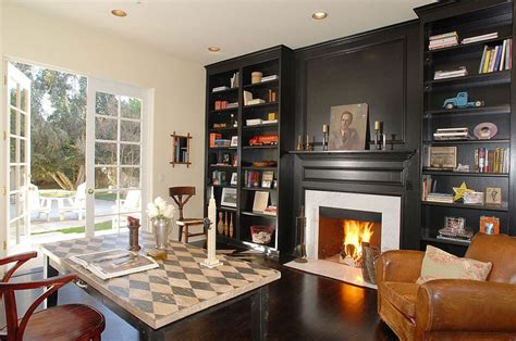 40 Gorgeous Ideas For A Sizzling Home Office With Fireplace
