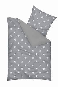 Bettwäsche Grau 155x220 : bettw sche sterne grau 155x220 cm 80x80 cm baumwolle ebay ~ Frokenaadalensverden.com Haus und Dekorationen