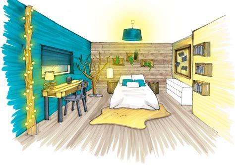 chambre en perspective dessin dessin design intérieur architecture perspective ozladeco