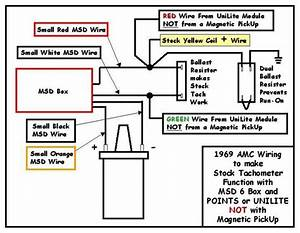 Msd 6al To Stock Amx Tach - The Amc Forum
