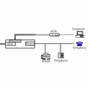 Rj11 Adsl Fax Modem Broadband Phone Network Jack Cable