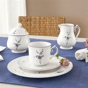 Geschirr Blau Weiß : villeroy und boch alt luxemburg porzellan mit blauem blumendekor ~ Markanthonyermac.com Haus und Dekorationen