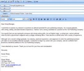 Resume Email Cover Letter From Place Your Cover Letter In The Of A Resume Email To Get Noticed