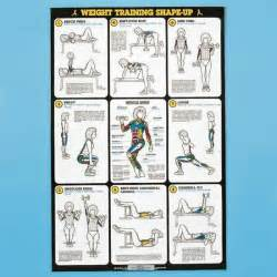 Self - Instruction Weight Training Poster - Free - Weight