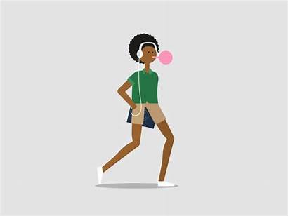 Animated Gifs Motion Animation Walk Anya Dribbble