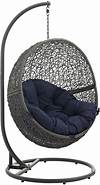 Hide Gray Navy Outdoor Patio Swing Chair With Stand from outdoor patio swing chair with stand