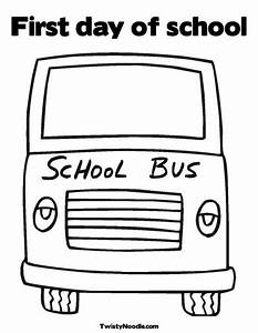 Yellow School Bus Coloring Page from TwistyNoodle.com ...