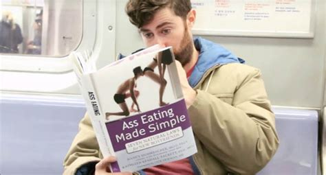 This Guy Reads Various Books With Super Awkward Titles In