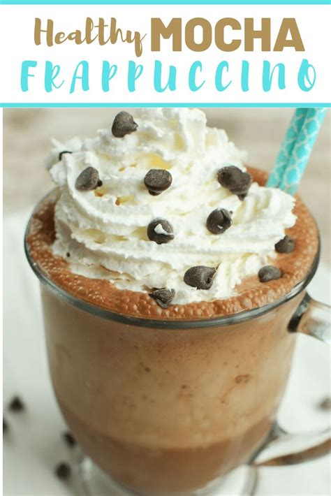 Check out my starbucks copycat recipes for more coffee drinks and baked goods here. NO added sugar!! Healthy Mocha Frappuccino--YES!! #healthy #mocha #frappuccino #coffee #lowsugar ...