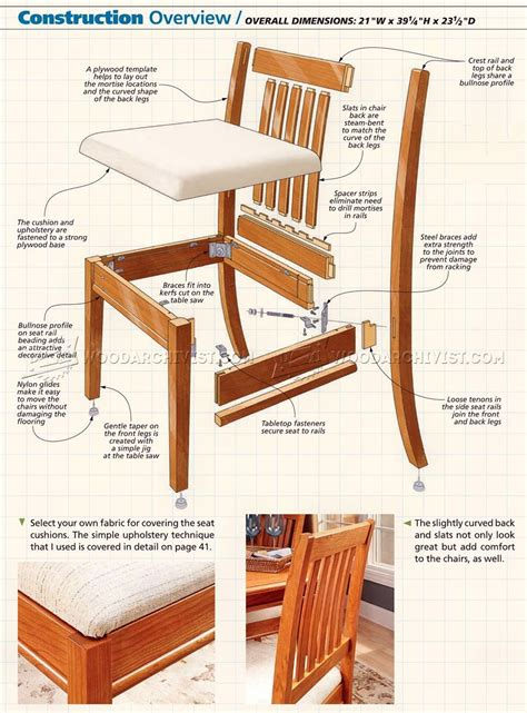 dining chair plans furniture plans dining room