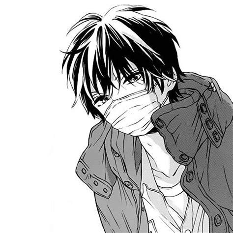 anime boy drowning manga anime bw image