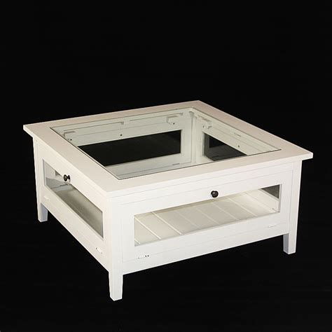 armoire cuisine en bois table basse bois massif blanche avec plateau verre made