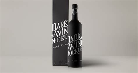 The best source of free bottle mockup psd templates for your project. Psd Red Wine Dark Bottle Mockup | Psd Mock Up Templates ...