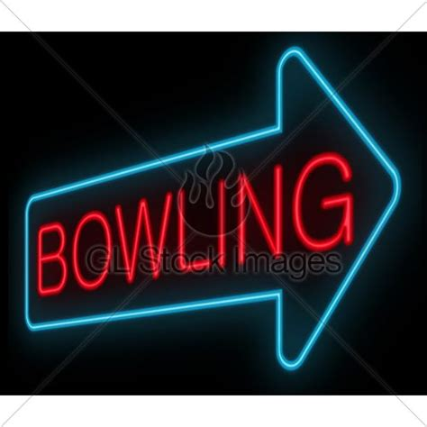graphics bowling and neon on