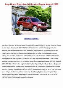 Jeep Grand Cherokee Wj Service Repair Manual By