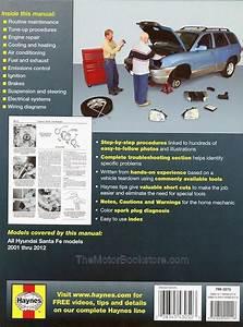 Hyundai Santa Fe Repair Workshop Manual 2001