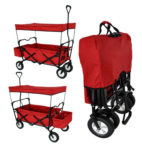 folding wagon with canopy canopies collapsible wagon with canopy