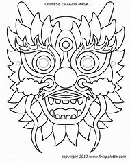 Chinese Dragon Mask Template