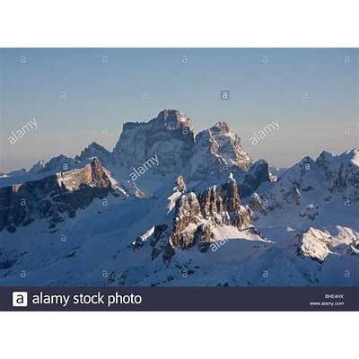pelmo mountain view from lagazuoi peak cortina dolomites