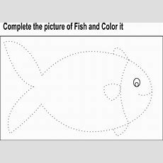 Fish Activities For Preschool  Complete The Picture Of Fish Dot To Dot Worksheets For Kids Of