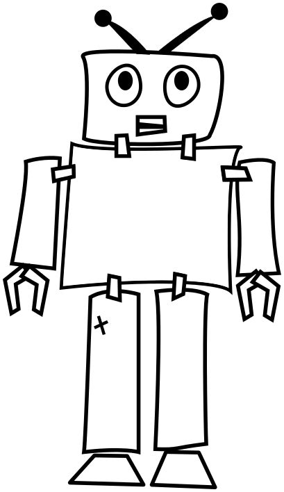 Image for robot outline clip art | Technology Clip Art