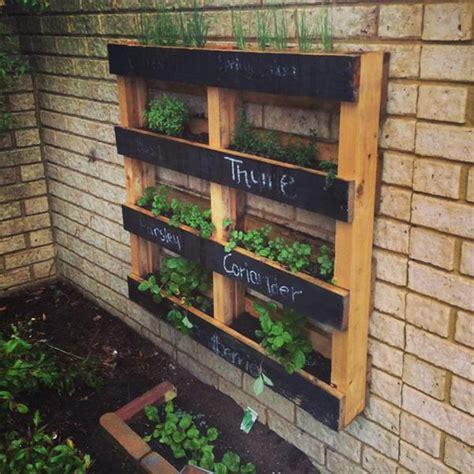 diy pallet vertical herb garden hanging planter gardens