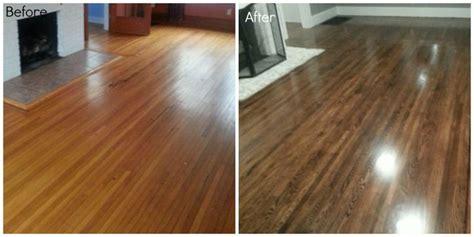 Restain Hardwood Floors Darker by Before And After Refinishing Hardwood Oak Floors