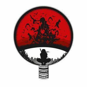 Naruto Shippuden Itachi Uchiha Clan Crest Genjutsu