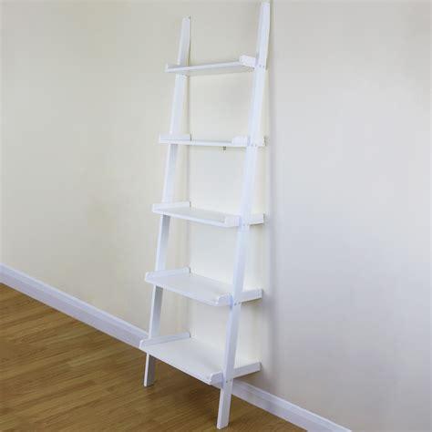 tier white ladder wall shelf home storagedisplay unit