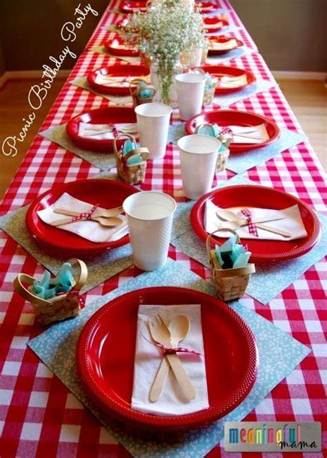 picnic birthday party ideas picnic theme birthday