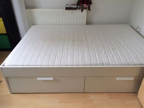 Ikea Brimnes Storage Double Bed And Mattress