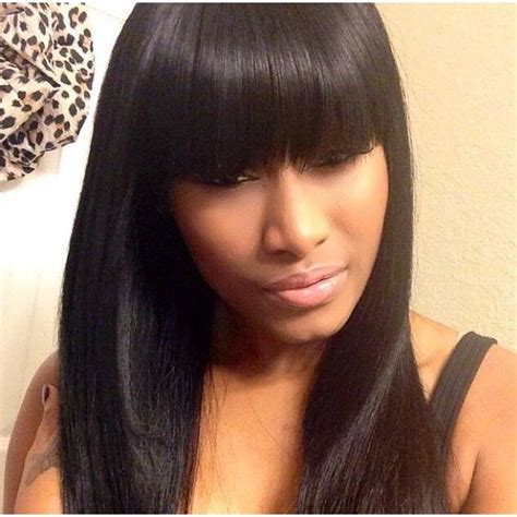 best 25 sew in with bangs ideas on wigs with