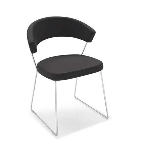 chaise design en cuir et m 233 tal new york connubia 174 4