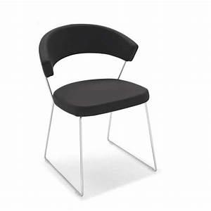Chaise Design Metal : chaise design en cuir et m tal new york calligaris 4 pieds tables chaises et tabourets ~ Teatrodelosmanantiales.com Idées de Décoration