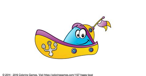 Happy Boat by Happy Boat Coloring And Coloring Pages