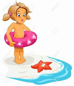 Children Swimming at The Beach Clipart (46+)