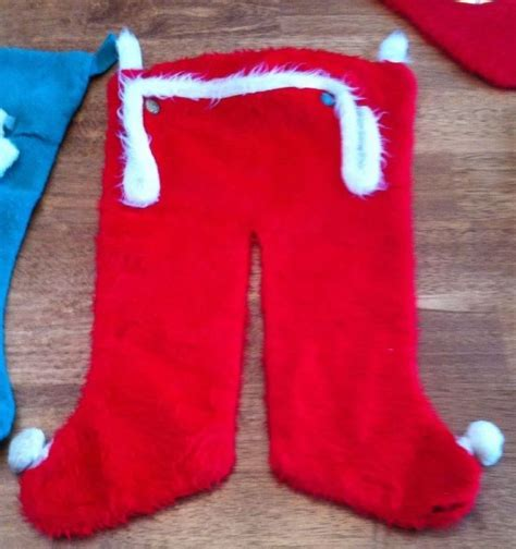 santa pants stocking vintage christmas stockings