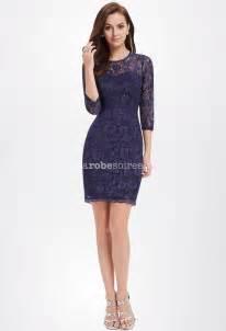 robe de mariã e avec manche dentelle robe courte en dentelle bleu avec manches