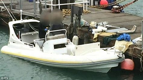 Inflatable Boat Kent by British Men Admit People Smuggling After 18 Albanians