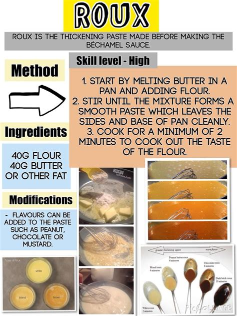 roux cuisine the 119 best images about gcse catering revision on