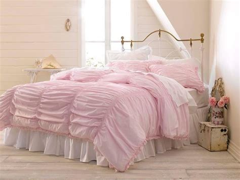 simply shabby chic bedding nib simply shabby chic rouched 3 piece pink full queen comforter set shabby chic love it