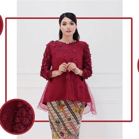 lace top kebaya modern brokat organza ateiwaonline baju
