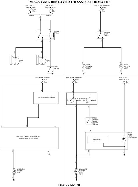 99 S10 Fuse Box Map by 97 S10 Fuse Diagram Wiring Schematic Diagram