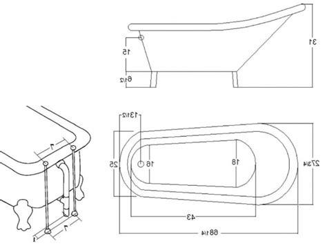 Clawfoot Tub Sizes by Clawfoot Tub Dimensions Bathtub Designs
