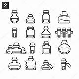 Potion Bottles Bottle Template Coloring Outline Potions Tattoo Graphicriver Sketch Doodle sketch template