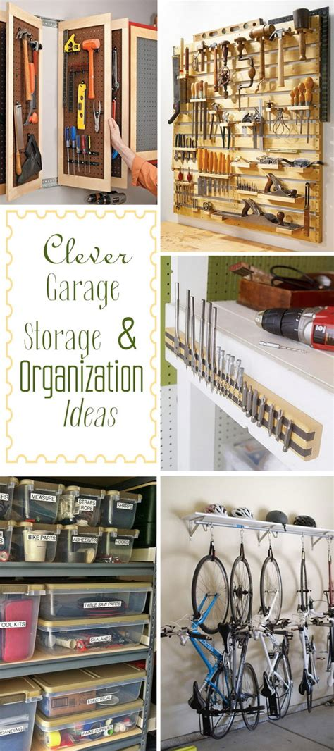 clever garage storage organization ideas noted list