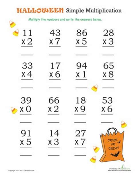 halloween math simple multiplication 2