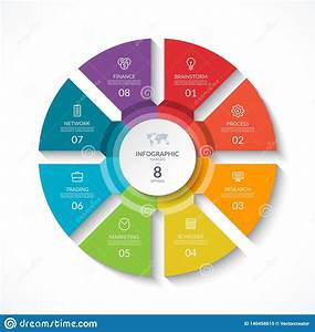 Infographic Circle  Cycle Diagram With 8 Stages Stock