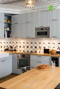 Cuisine Carreau De Ciment : credence carreau ciment cuisine cuisine gris cuisine ~ Melissatoandfro.com Idées de Décoration