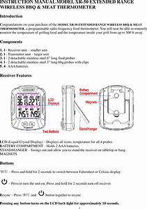 Ecare Electronics Xr50 Wireless Meat Thermometer User Manual